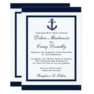 Navy Anchor - Wedding Invitation