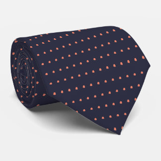 Navy and Coral Polka Dots Pattern Tie, Ties