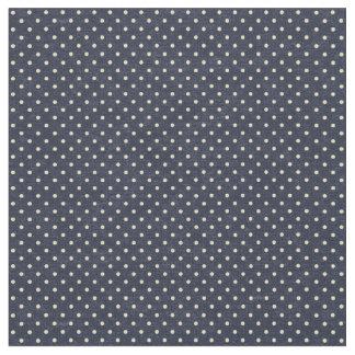 Navy and Cream Polka Dots Fabric