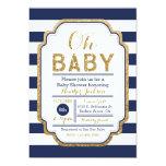 Navy And Gold Baby Shower Invitation, Baby boy 13 Cm X 18 Cm Invitation Card