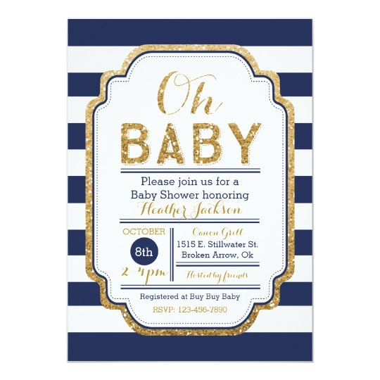 Navy and gold baby shower invitation baby boy invitation zazzle navy and gold baby shower invitation baby boy invitation filmwisefo
