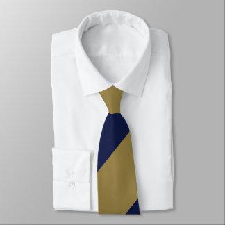 Navy and Gold Broad Regimental Stripe Tie