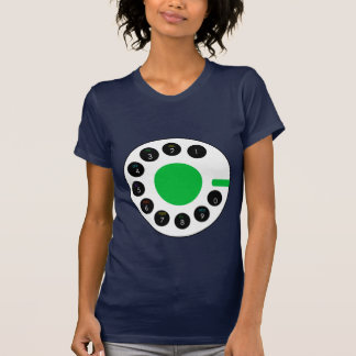 Navy and Green Call telephone preppy Mod Tee