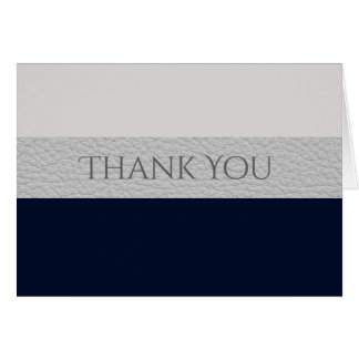 Navy And Grey Leather Style Contemporary Striped Card
