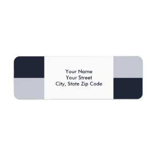 Navy and Grey Rectangles return address label