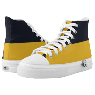 Navy and New Gold Two-Tone Hi-Top