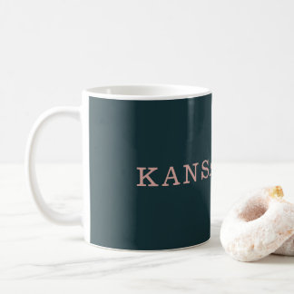 Navy and Pink Kansas City Mug