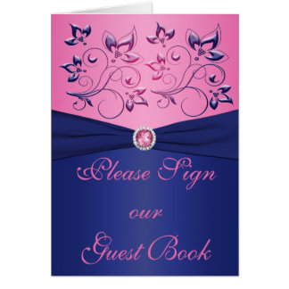 Navy and Pink Table Card