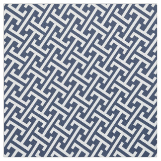 Navy and White // Any Color Preppy Greek Pattern Fabric