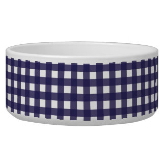 Navy and White Gingham