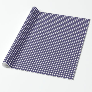 Navy and White Gingham Wrapping Paper