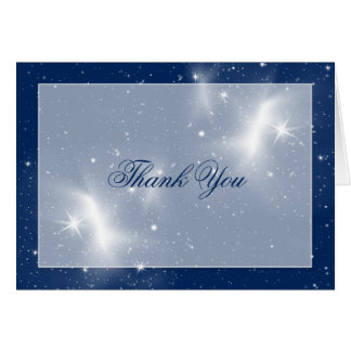 Navy and White Stars Wedding Thank You Card