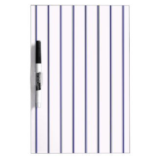 Navy and White Ticking Dry Erase Board
