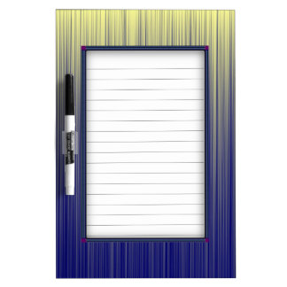 Navy and Yellow Gradient Line Pattern Dry Erase Board