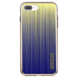 Navy and Yellow Gradient Line Pattern Incipio DualPro Shine iPhone 8 Plus/7 Plus Case