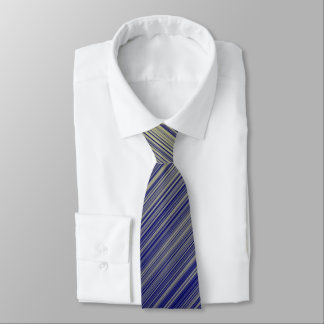 Navy and Yellow Gradient Line Pattern Tie
