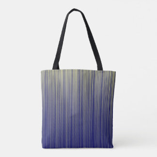 Navy and Yellow Gradient Line Pattern Tote Bag