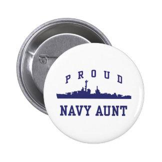 Navy Aunt 6 Cm Round Badge