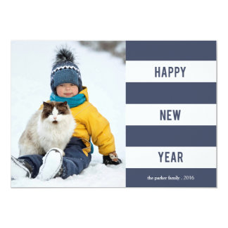 Navy Band Happy New Year photo card 13 Cm X 18 Cm Invitation Card