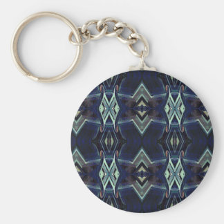 Navy Black Gray Hip Masculine Pattern Key Ring