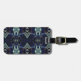 Navy Black Gray Hip Masculine Pattern Luggage Tag