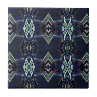 Navy Black Gray Hip Masculine Pattern Small Square Tile