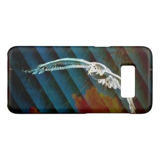 Navy Blue Abstract Ocean Birds gliding seagull Case-Mate Samsung Galaxy S8 Case