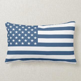 Navy Blue American Flag Cushion