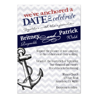 Anchor Wedding Invitations Announcements Zazzlecomau