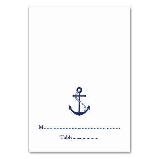 Navy Blue Anchor Nautical Wedding Place Cards
