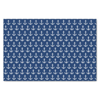 Navy Blue Anchors Away | Tissue Paper