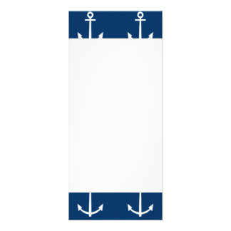 Navy Blue Anchors Pattern 1 Customised Rack Card