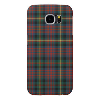 Navy Blue and Red MacLennan Clan Scottish Plaid