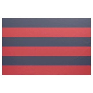 Navy Blue and Red Wide Stripes Large Scale Fabric