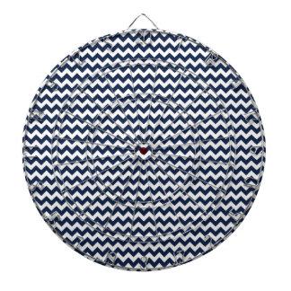 Navy Blue and White Chevron Stripes Dart Boards