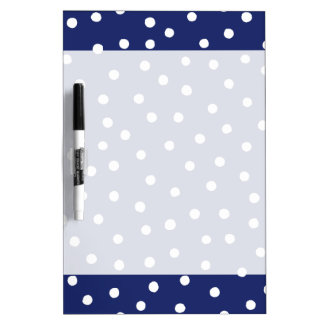 Navy Blue and White Confetti Dots Pattern Dry Erase Board