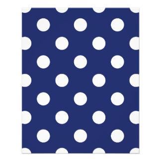 Navy Blue and White Polka Dot Pattern 11.5 Cm X 14 Cm Flyer