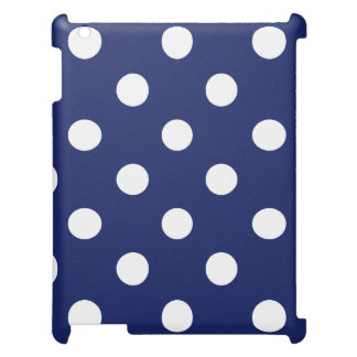 Navy Blue and White Polka Dot Pattern Case For The iPad 2 3 4