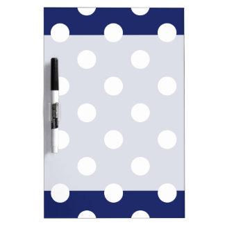 Navy Blue and White Polka Dot Pattern Dry Erase Board