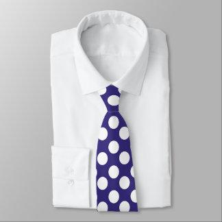 Navy Blue and White Polka Dot Tie