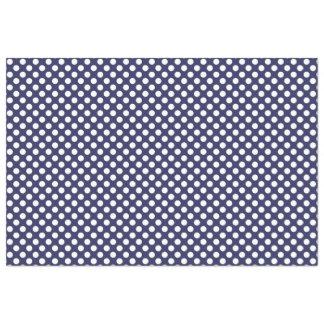 Navy Blue and White Polka Dot Tissue Paper