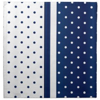 Navy Blue and White Polka Dots Napkin