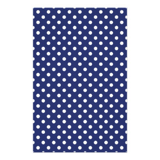 Navy Blue and White Polka Dots Pattern 14 Cm X 21.5 Cm Flyer