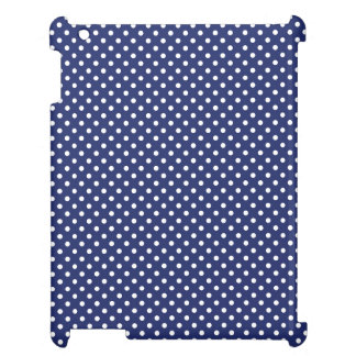 Navy Blue and White Polka Dots Pattern Case For The iPad 2 3 4