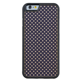 Navy Blue and White Polka Dots Pattern Maple iPhone 6 Bumper