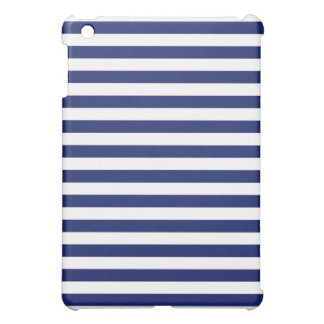 Navy Blue and White Stripe Pattern Case For The iPad Mini