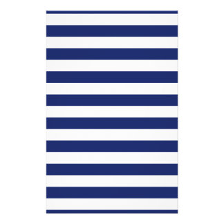 Navy Blue and White Stripe Pattern Flyer