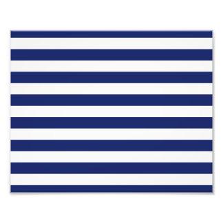 Navy Blue and White Stripe Pattern Photo Print