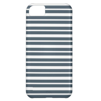 Navy Blue and White Stripes iPhone 5C Case