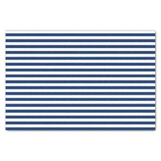 Navy Blue and White Stripes Tissue Paper